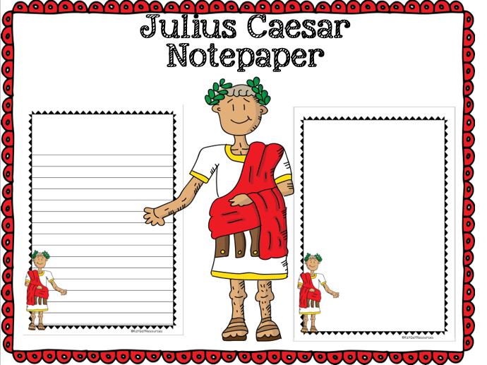 Julius Caesar Notepaper