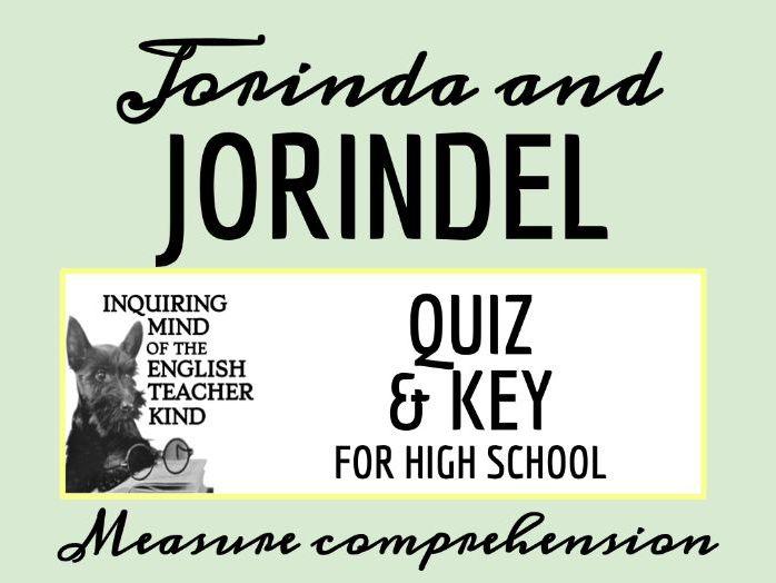 """""""Jorinda and Jorindel"""" by the Brothers Grimm Quiz"""