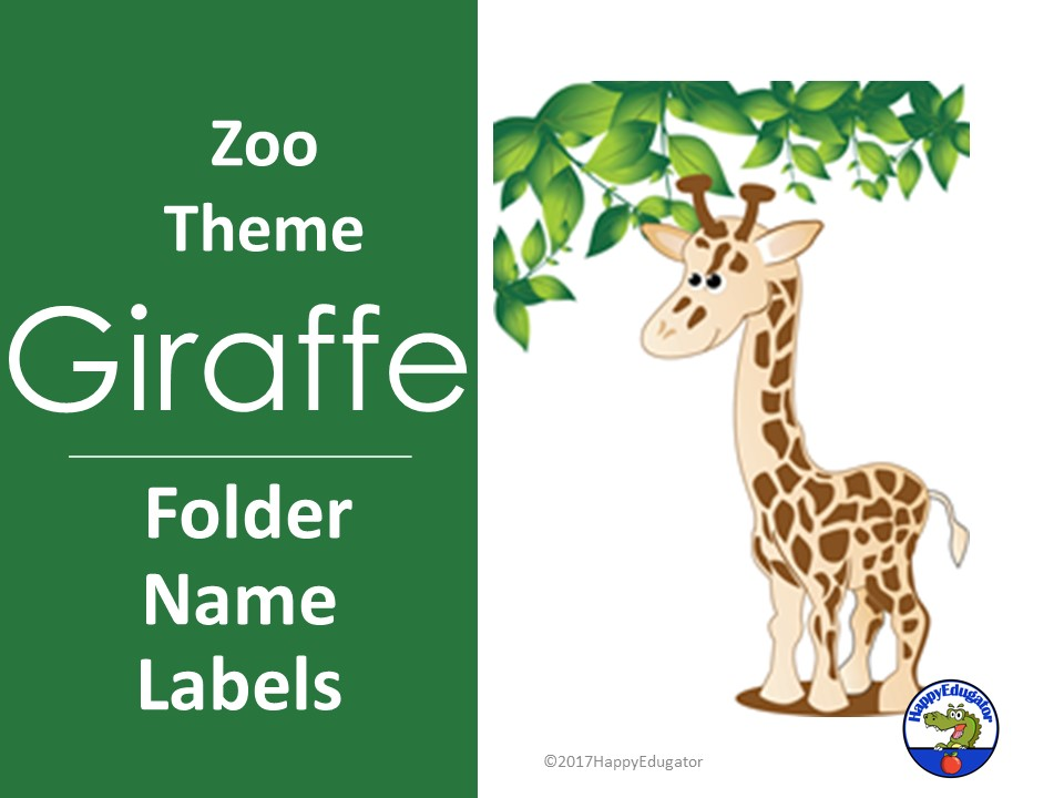 Giraffe Name Labels EDITABLE For a Jungle Safari or Zoo Theme
