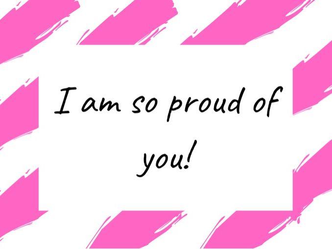 I'm so proud of you - digital certificate