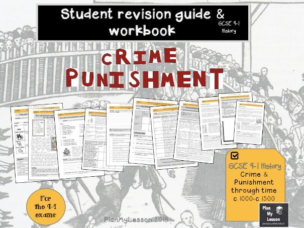 GCSE 9-1 Crime and punishment through time c.1000-c.1500 Revision Guide & Workbook (UNIT1)