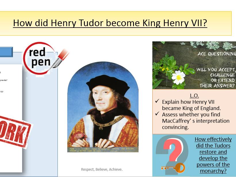 How did Henry Tudor become King of England?