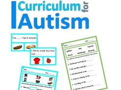 Autism, Sentences Fill In The Blanks Worksheets & Clip Cards Special Education, SEND
