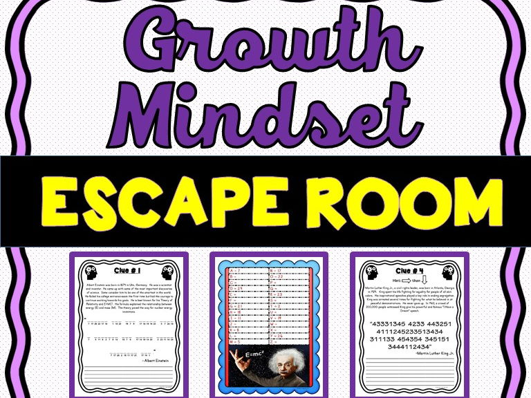 Growth Mindset Escape Room - No Prep!