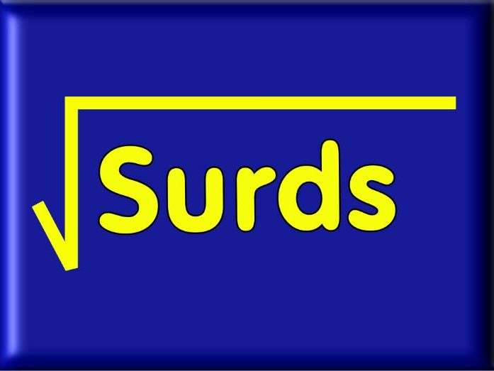 Manipulation Of Surds