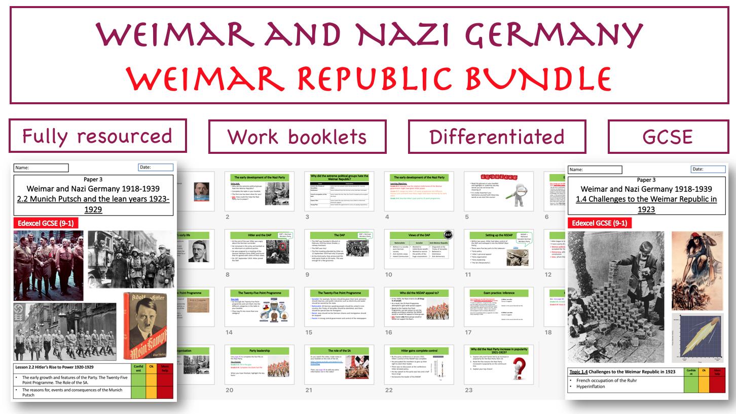 GCSE: Weimar Republic BUNDLE