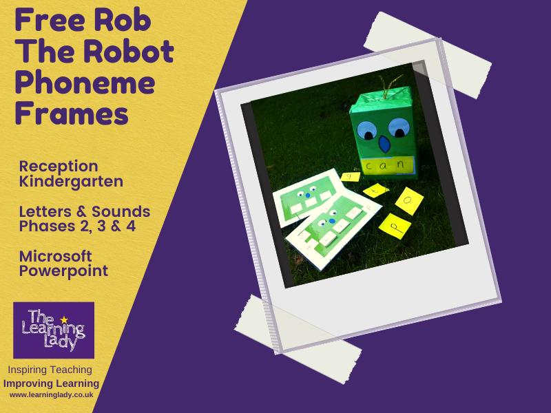 Free Robot Phoneme Frames for Phonics Lessons