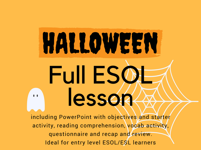 Halloween Lesson for ESOL/ESL/EAL/EFL Learners
