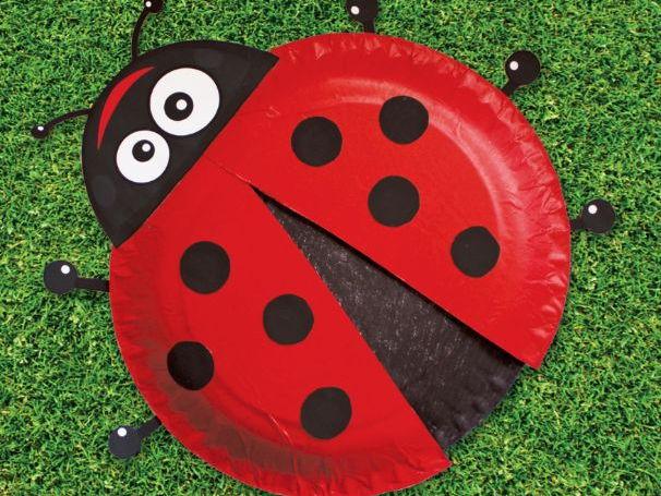 Ladybird Paper Plate Craft