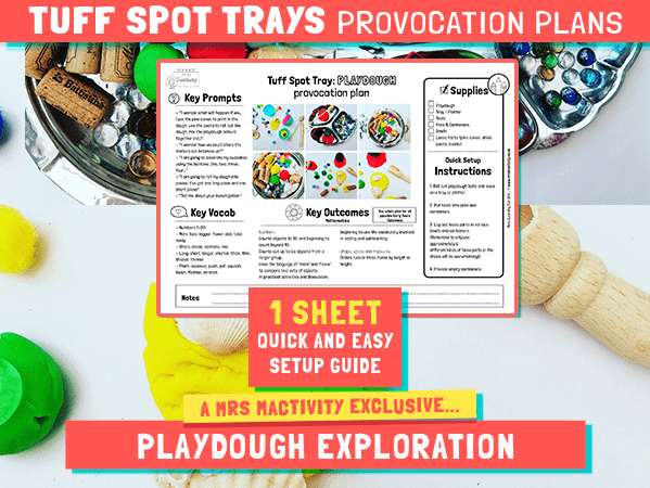 Tuff Spot Play Dough Provocation