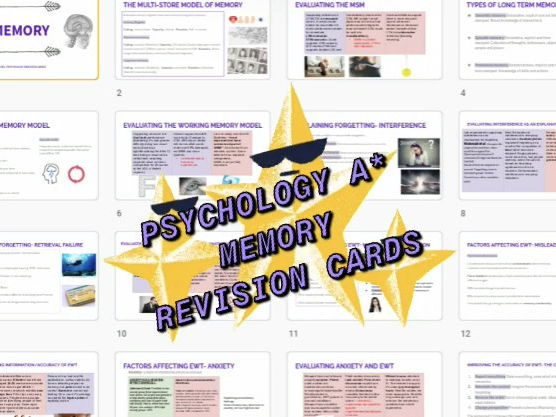 Psychology memory revision cards