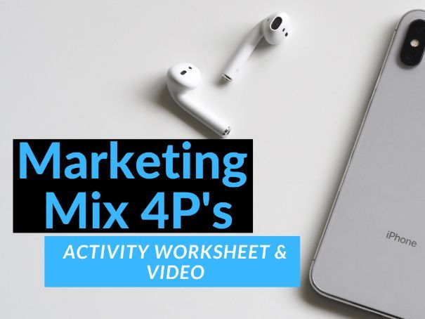 Marketing Mix 4P's Activity with Video