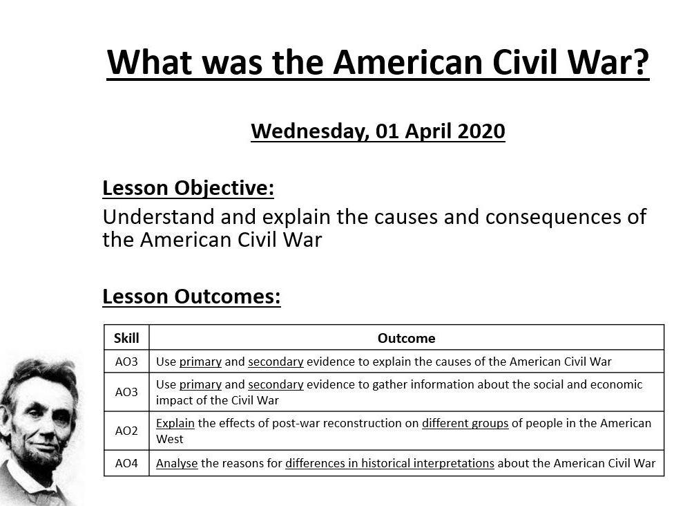 AQA 9-1 History - American Civil War