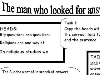 Buddhism worksheets
