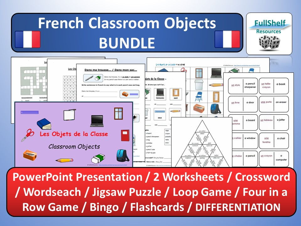 Excel Select Worksheet Pdf French Classroom Objects Worksheets  Puzzles Les Objets De La  Front End Estimation Worksheet Excel with Second Grade Math Worksheets Free French Classroom Objects Worksheets  Puzzles Les Objets De La Classe By  Fullshelf  Teaching Resources  Tes Double Digit Division Worksheet