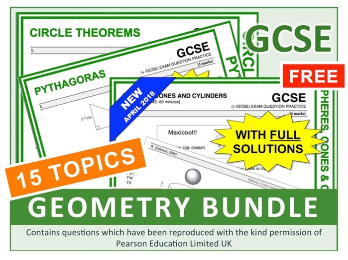 GCSE 9-1 Geometry Questions (Bundle)