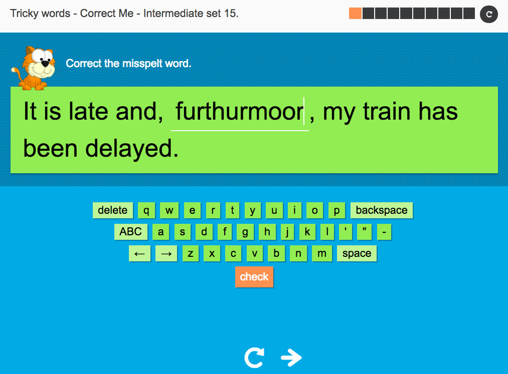Tricky Words Spelling Interactive Exercise 15 - Intermediate Level - Year 6