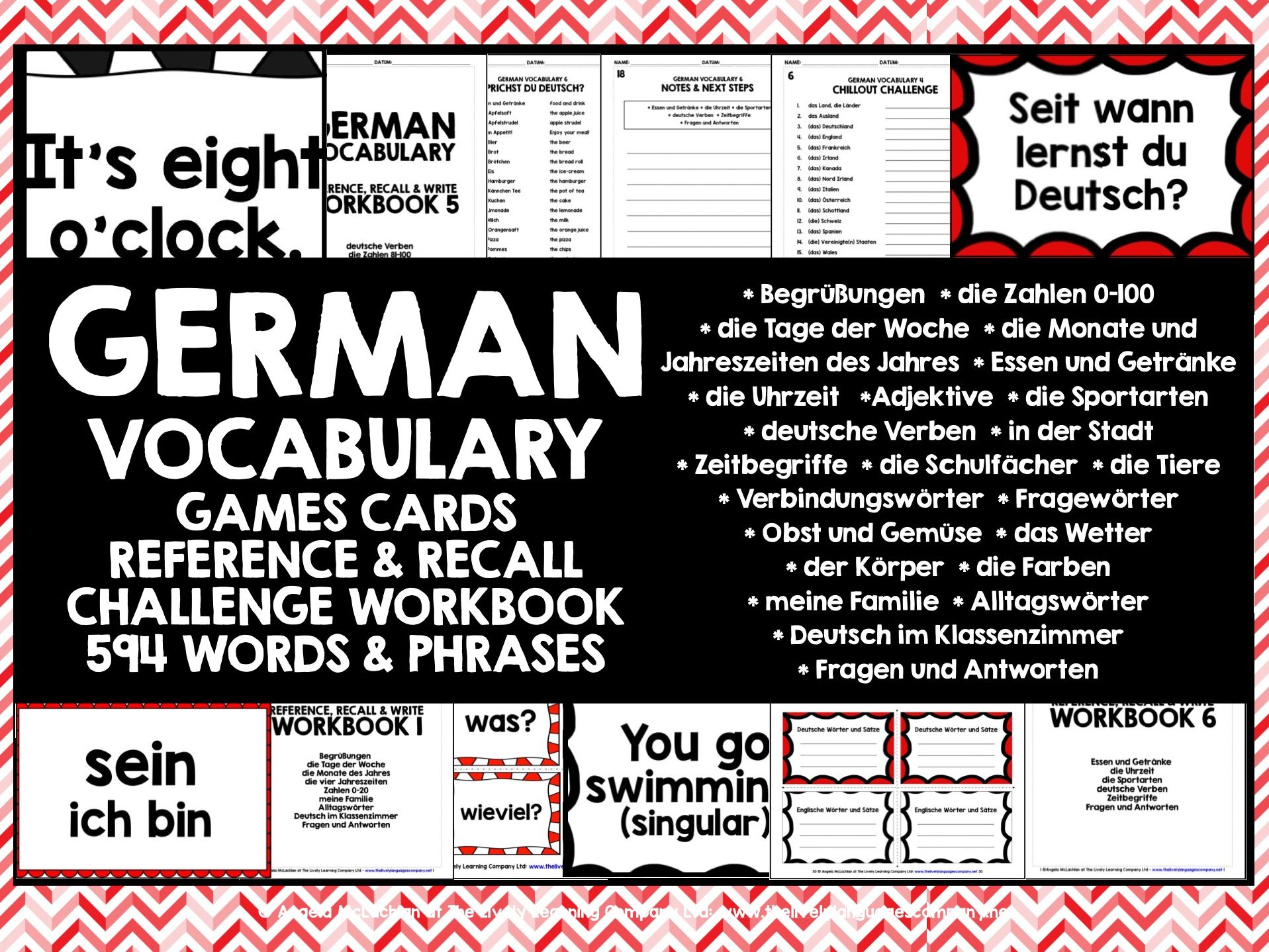GERMAN VOCABULARY CARDS WITH REFERENCE & RECALL WORKBOOKS #2