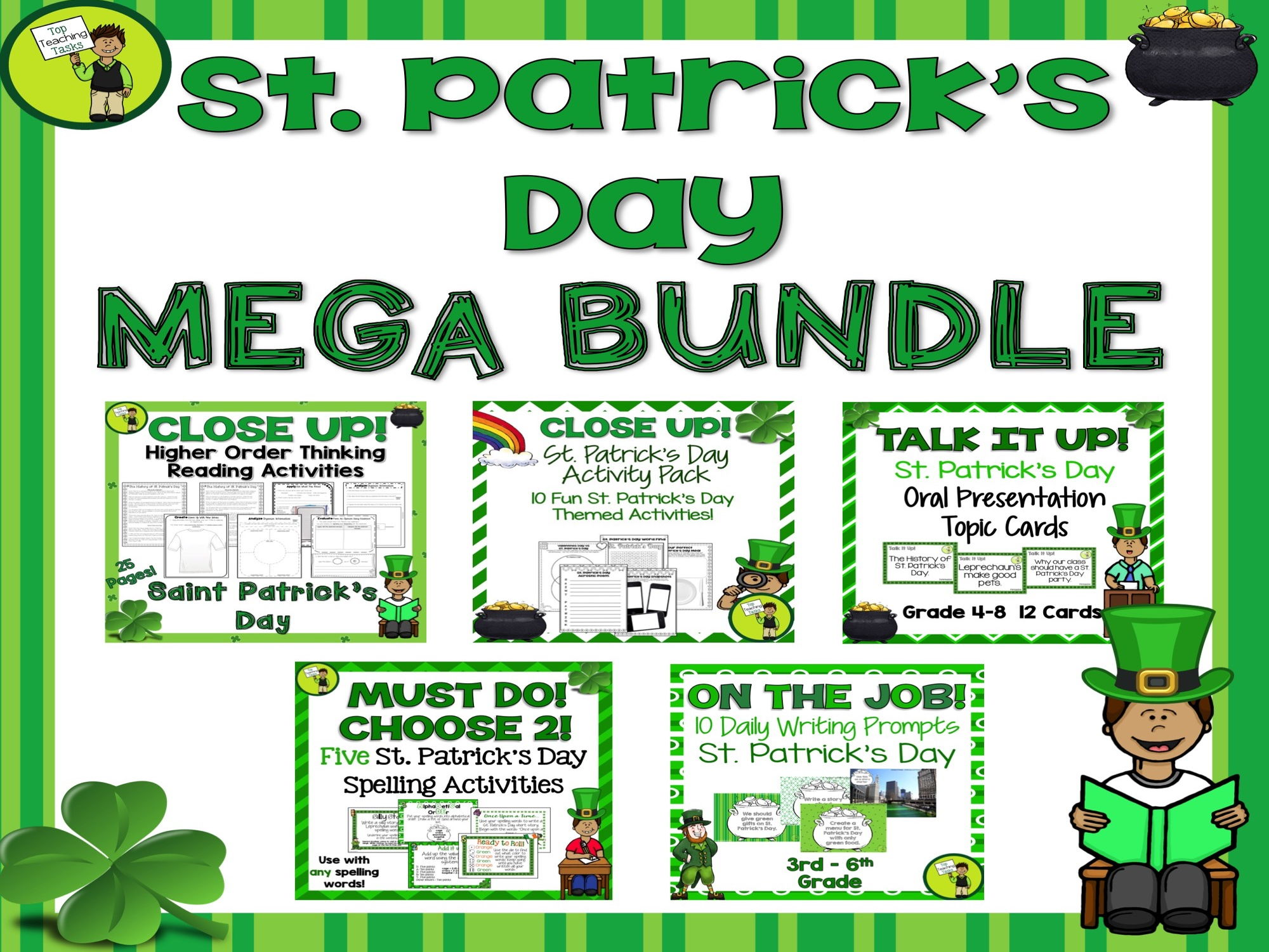 St. Patrick's Day Mega Bundle - St. Patrick's Day Themed ELA Resources