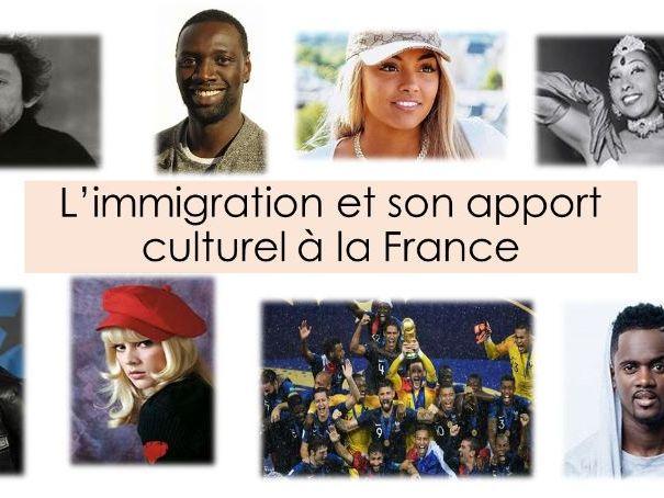 L'immigration et et l'enrichissement culturel de la France