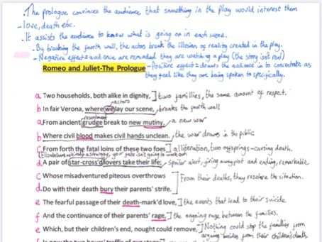 Romeo and Juliet Prologue+A1S1 annotated