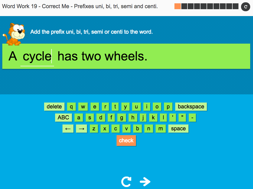 Prefixes uni-, bi-, tri-, semi- and centi- - Interactive Spelling Exercise  - Year 4 Spag | Teaching Resources