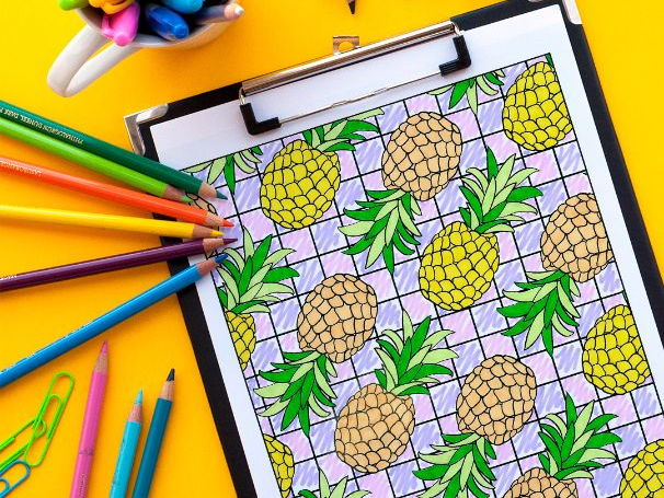 """Pineapples Coloring Page Page 