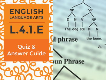 L.4.1.E - Quiz and Answer Guide