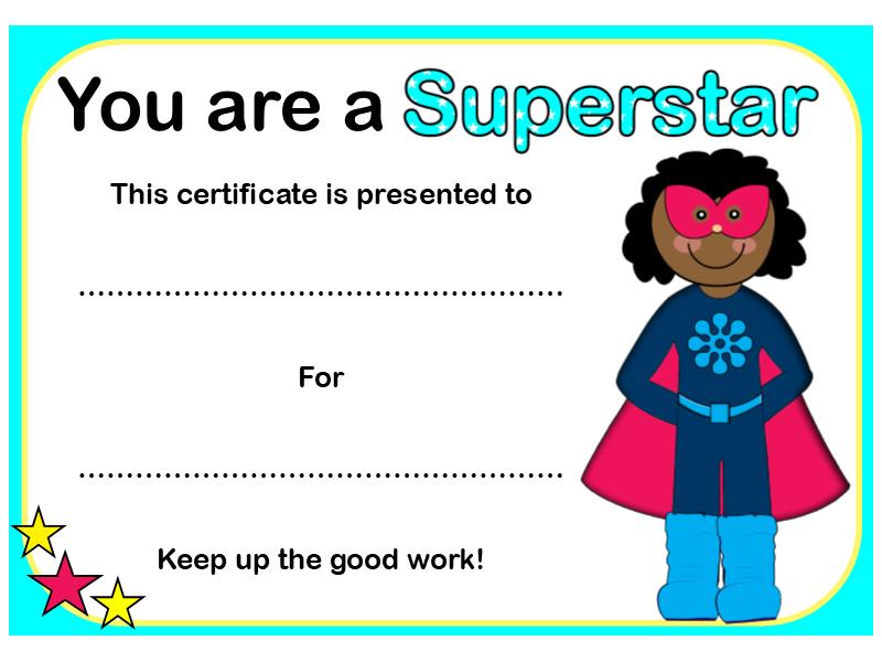 Superhero Reward Certificates