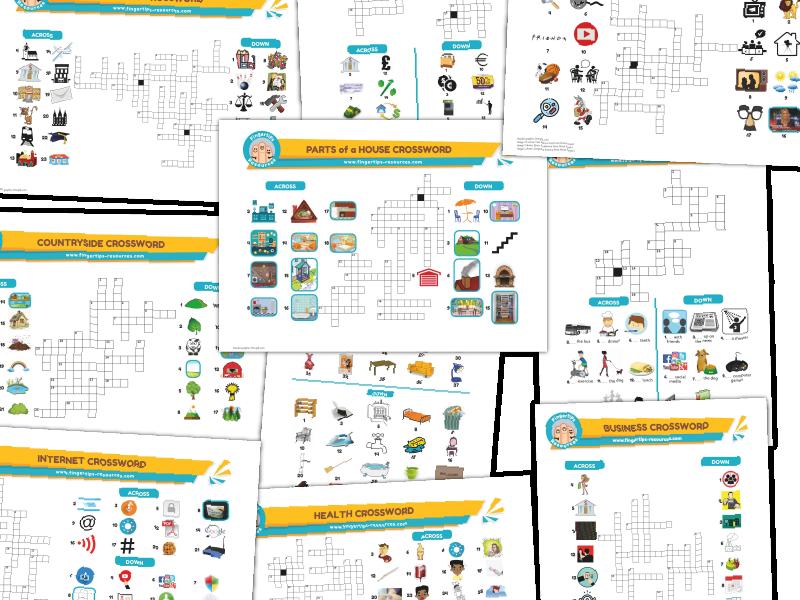 10 x ESL Crosswords Bundle (Pack 2)