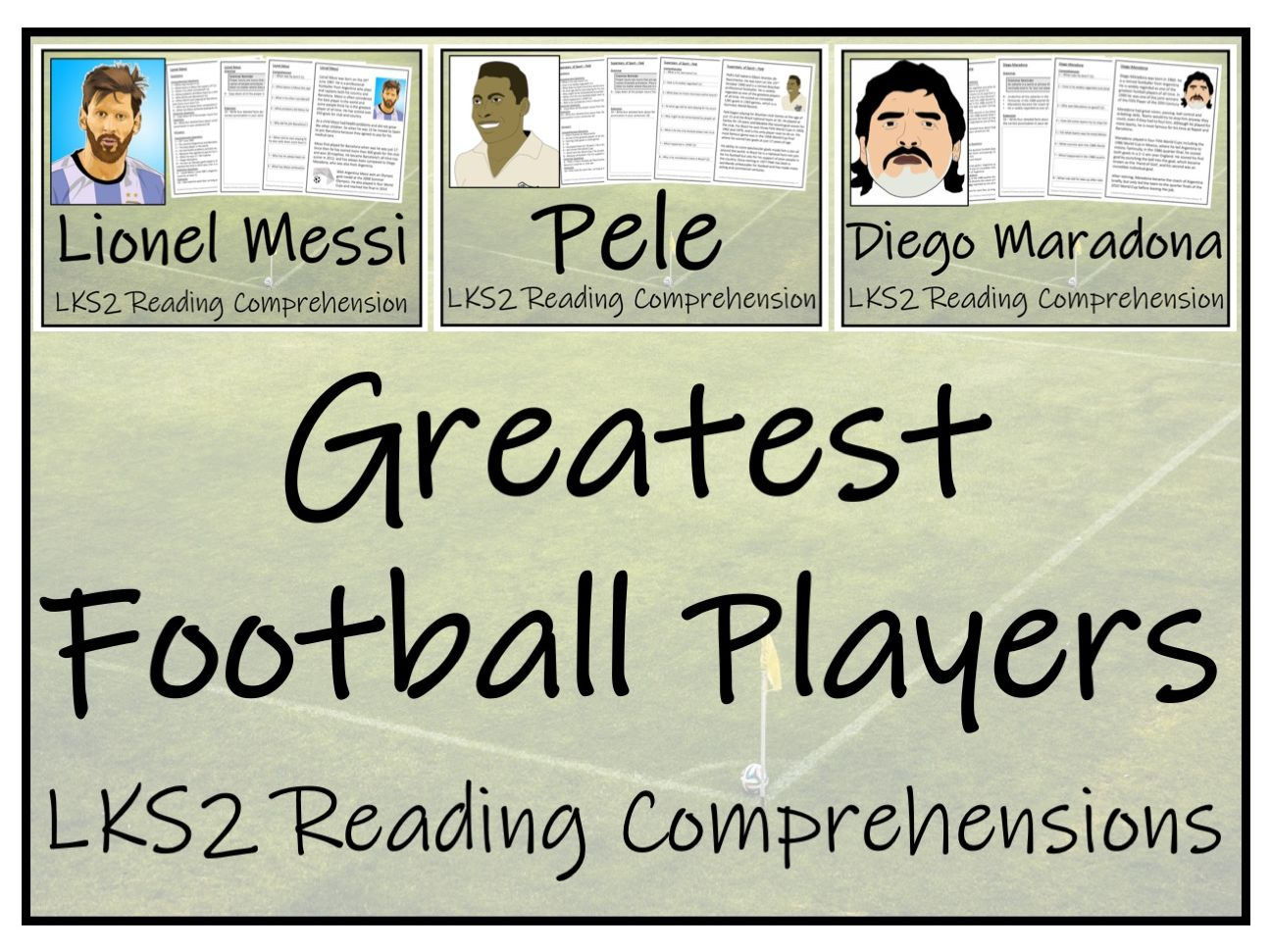 LKS2 Greatest Football Players Reading Comprehension Bundle