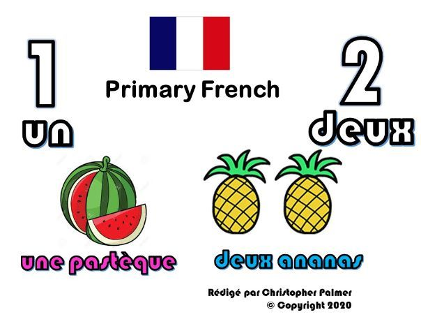 Primary French: Numbers 1 and 2 (Key Stage 1)
