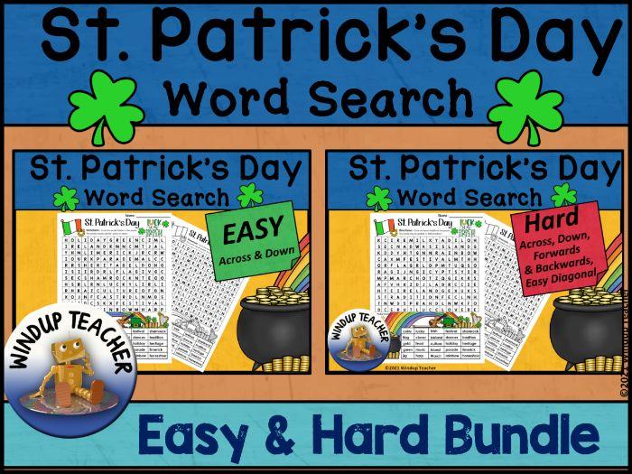 St. Patrick's Day Word Search BUNDLE