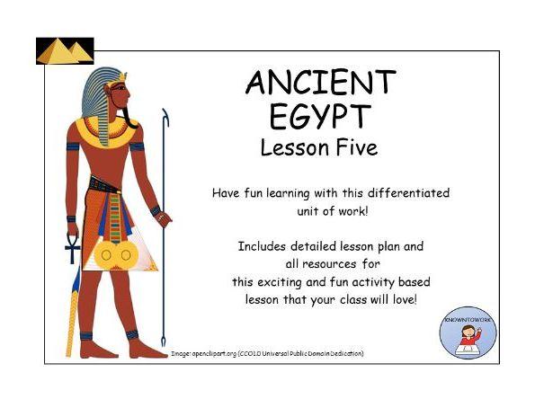 AncientEgypt:RotatingActivitiesLessonPlanandResources