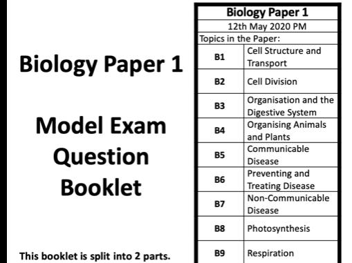 AQA GCSE Biology Paper 1 Revision Booklet