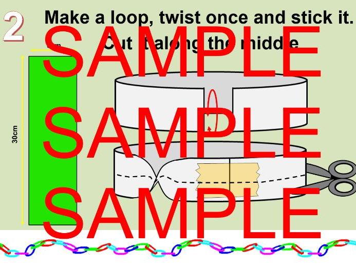Christmas Mobius Strips