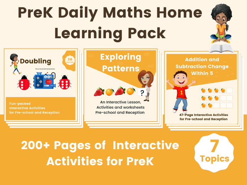EYFS Daily Maths Home learning Pack - Digital Activities With Printable Worksheet