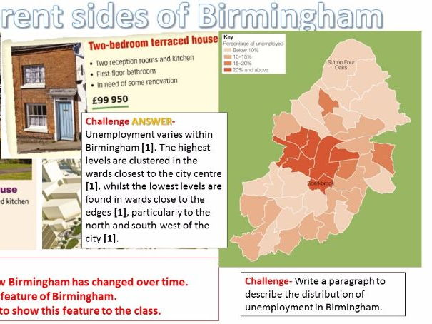 NEW OCR B Enquring Minds URBAN FUTURES 2017 10) Peer Presentations on Birmingham WITH ANSWERS