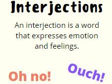 Interjections Display Poster