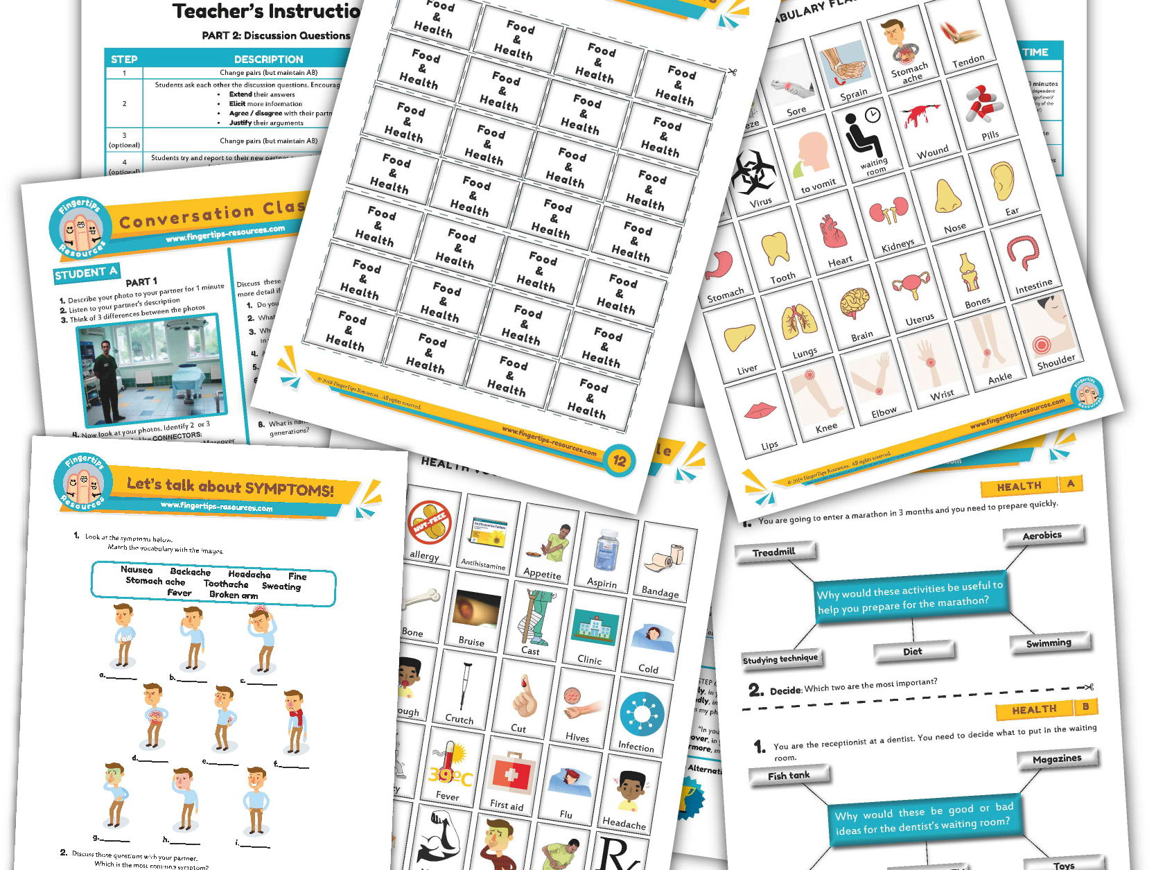 Health & Illness Unit - ESL Activity Bundle