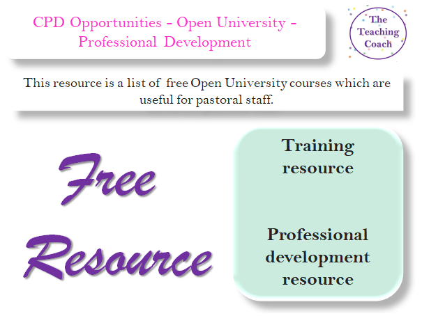 FREE CPD Opportunities - Open University - Professional Development Training Courses