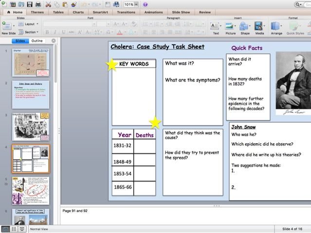 Edexcel 9-1 Cholera and John Snow Lesson