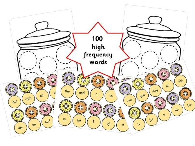 First 100 High Frequency Words Cookie Jar Bingo - Spelling / Reading Game for EYFS & Y1