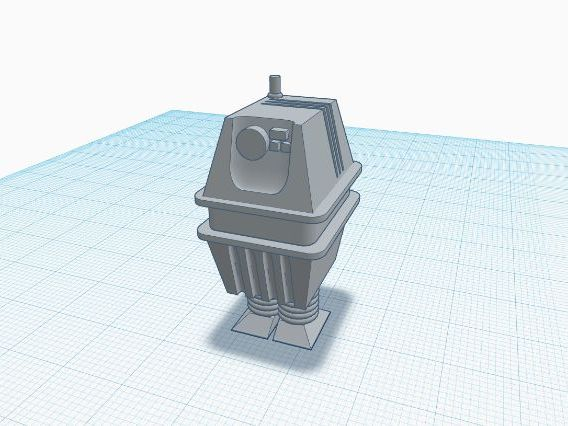 3d Printing TinkerCad Power Droid