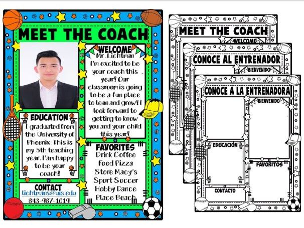 MEET THE COACH ★ EDITABLE NEWSLETTER ★ FREE PRINTABLES