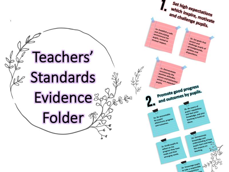 Teacher Standard's - Folder Front Pages