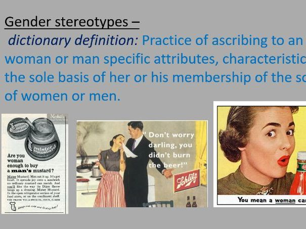 Gender Stereotypes Powerpoint - Curley's Wife