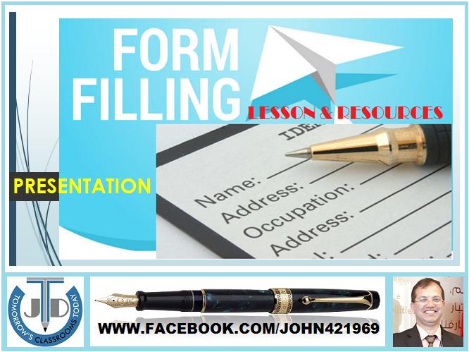 FORM FILLING: PRESENTATION