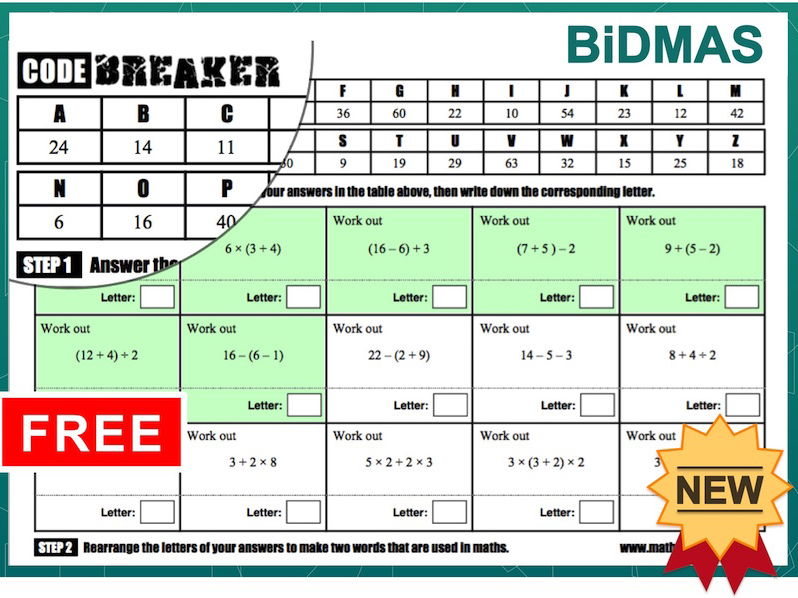 BiDMAS (Codebreakers)