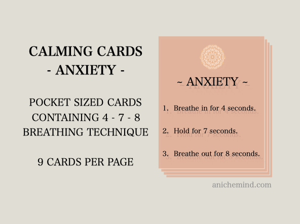 Anxiety Calming Cards (Self Esteem)